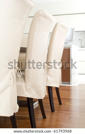 chairs in a raw - stock photo