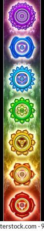Chakra Banner - stock photo