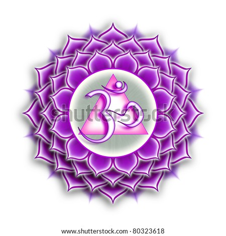 Chakra Sahasrara Purple Isolated - stock photo