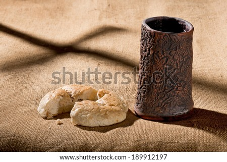 chalice with breadth - stock photo