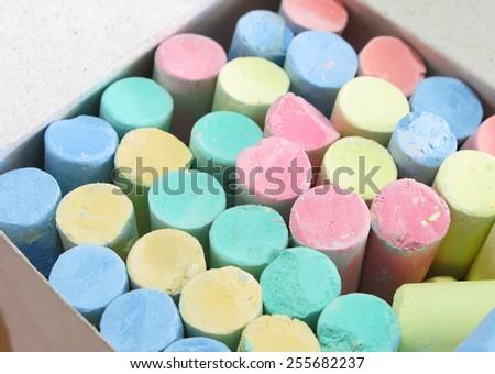 chalk - stock photo