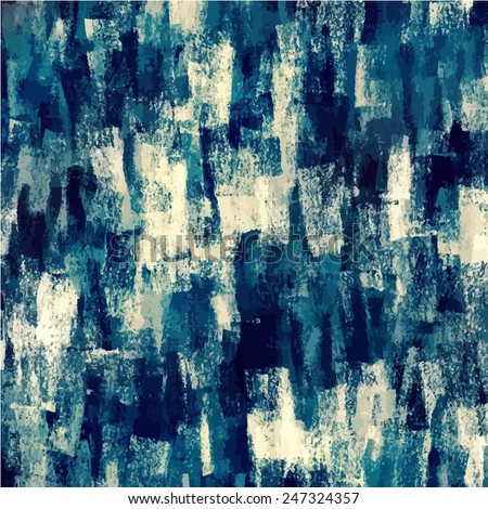 Chalk blue brush strokes background - stock photo
