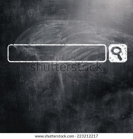 chalk board - stock photo