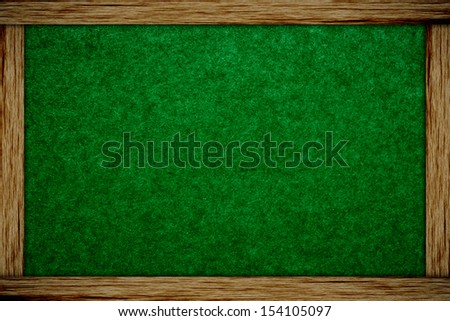 chalk board and wood frame - stock photo