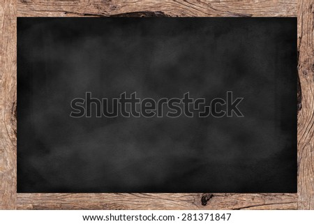chalk board background texture with old vintage wooden frame,blackboard concept.use for about banner,template,design,decorate,business,education,food menu.blank/empty ornament wallpaper backdrop idea. - stock photo