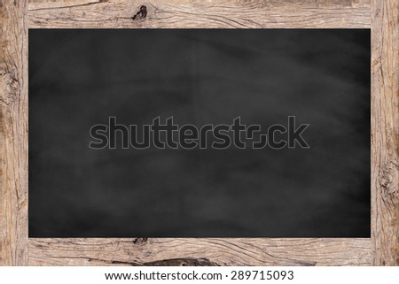 chalk board background texture with old vintage wooden frame,empty space blackboard.show/writing/draw advertising idea/product on display picture.banner/template for design,decorate.creative concept - stock photo