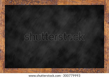 chalk board background textures with old vintage wooden frame ,blackboard concept.use for work about backgrounds,design,decorate,business,education and etc. - stock photo