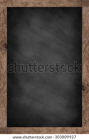 chalk board background textures with old vintage wooden frame ,blackboard concept.vertical black board style.use for works about backgrounds,design,decorate,business,education and etc.  - stock photo