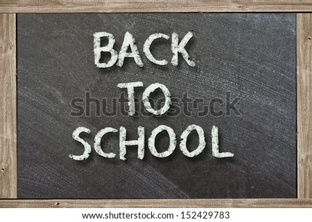 Chalk drawing - Back to school - stock photo