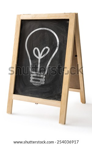 Chalk rubbed out on blackboard isolated with Clipping path for insert Photo - stock photo