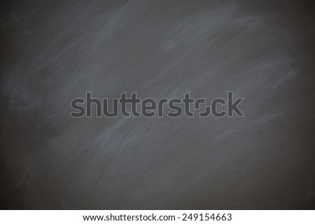 Chalkboard Blackboard Background Retro Style Charcoal Gray Chalk Board with Chalk Dust Eraser Marks - stock photo