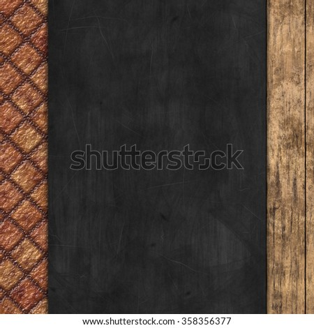 chalkboard on wooden texture - stock photo