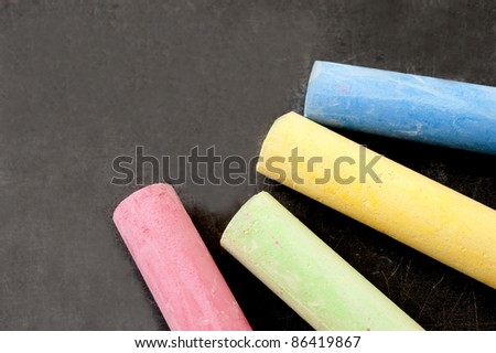 chalks in a variety of colors - stock photo