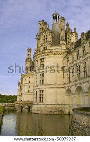 Chambord Castle on the Loire Valley River France Europe - stock photo