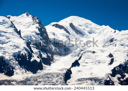 Chamonix Mont Blanc - stock photo