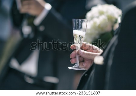 champagne - stock photo