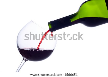 Champagne bottle close up - stock photo