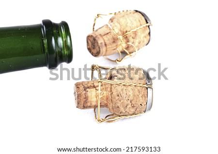 Champagne Caps - stock photo