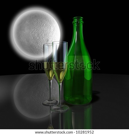 Champagne for 2 - stock photo