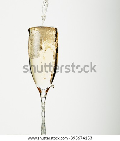 Champagne glass - stock photo