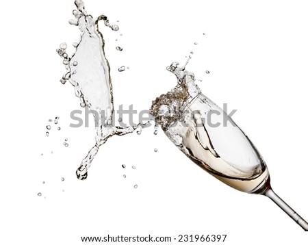 Champagne splash - stock photo