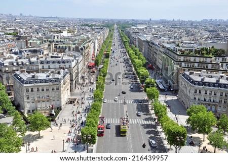 Champs elysees, Paris, France - stock photo