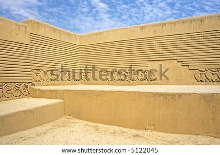 Chan Chan Ruins, Trujillo, Peru - stock photo
