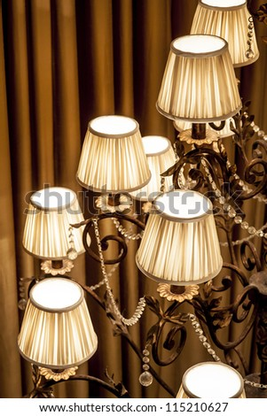 chandelier close up - stock photo