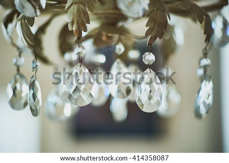 Chandelier Detail - stock photo