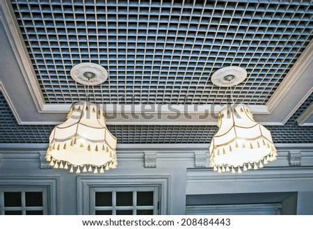 chandeliers in vintage style - stock photo