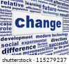 Change conceptual background. Motivation in success poster design - stock photo