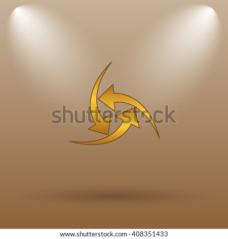 Change icon. Internet button on brown background.