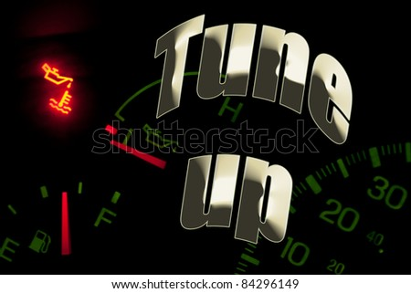 Change oil service engine light tune up - stock photo