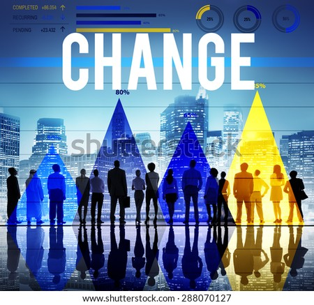 Change Solutions Improvement New Motivation Concept - stock photo