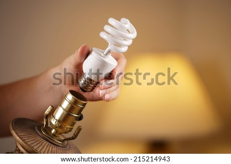 Changing a Bulb - stock photo