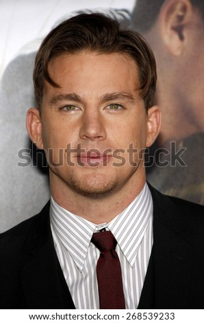 Channing Tatum at the Los Angeles premiere of 'Dear John' held at the Grauman's Chinese Theatre in Hollywood on Februaty 1, 2010.  - stock photo
