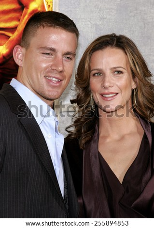 Channing Tatum attends the 'Step Up' Los Angeles Premiere held at the Arclight Theater in Hollywood, California on August 7, 2006.   - stock photo