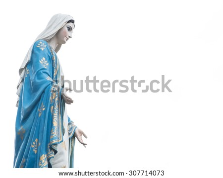Chanthaburi, Thailand blessed virgin mary isolated most beautiful in Thailand closeup with copy space - stock photo