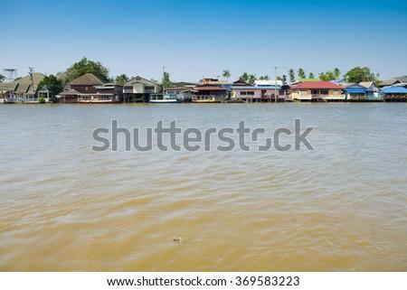 Chao Phraya River in thailand - stock photo