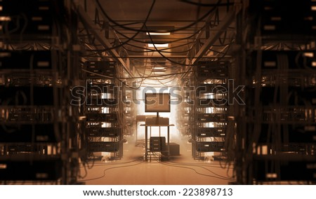 Chaos in Room - stock photo