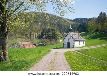 chapel, Black Forest, Germany - stock photo