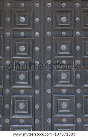Chapel door.  Castillo de San Marcos.  St. Augustine, Florida. - stock photo