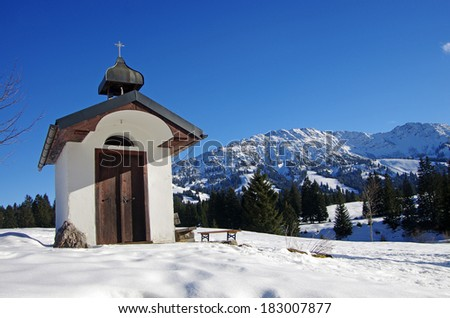 chapel in allgau - stock photo
