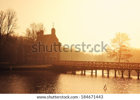 Chapel in the park - stock photo