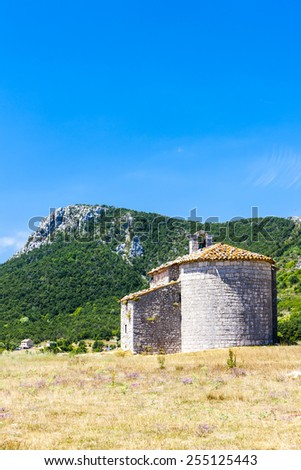 Chapel Notre-Dame de Gratemoine, Seranon, Provence, France - stock photo