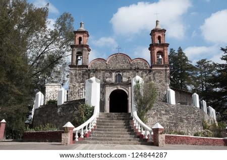 Chapel of Jesus del Monte, Tlalpujahua (Mexico) - stock photo