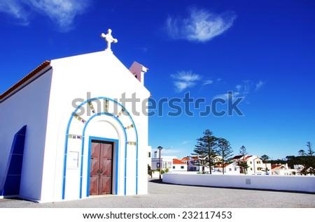 Chapel of Nossa Senhora do Mar,Zambujeira do Mar, Odemira, Portugal. - stock photo