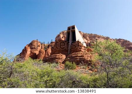 Chapel of The Holy Cross in Arizona - stock photo