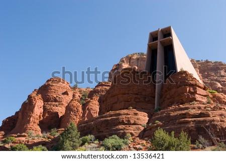 Chapel of The Holy Cross in Sedona Arizona - stock photo