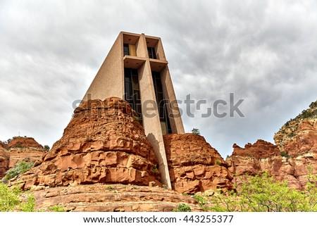 Chapel of the Holy Cross in Sedona Arizona a Roman Catholic Church - stock photo